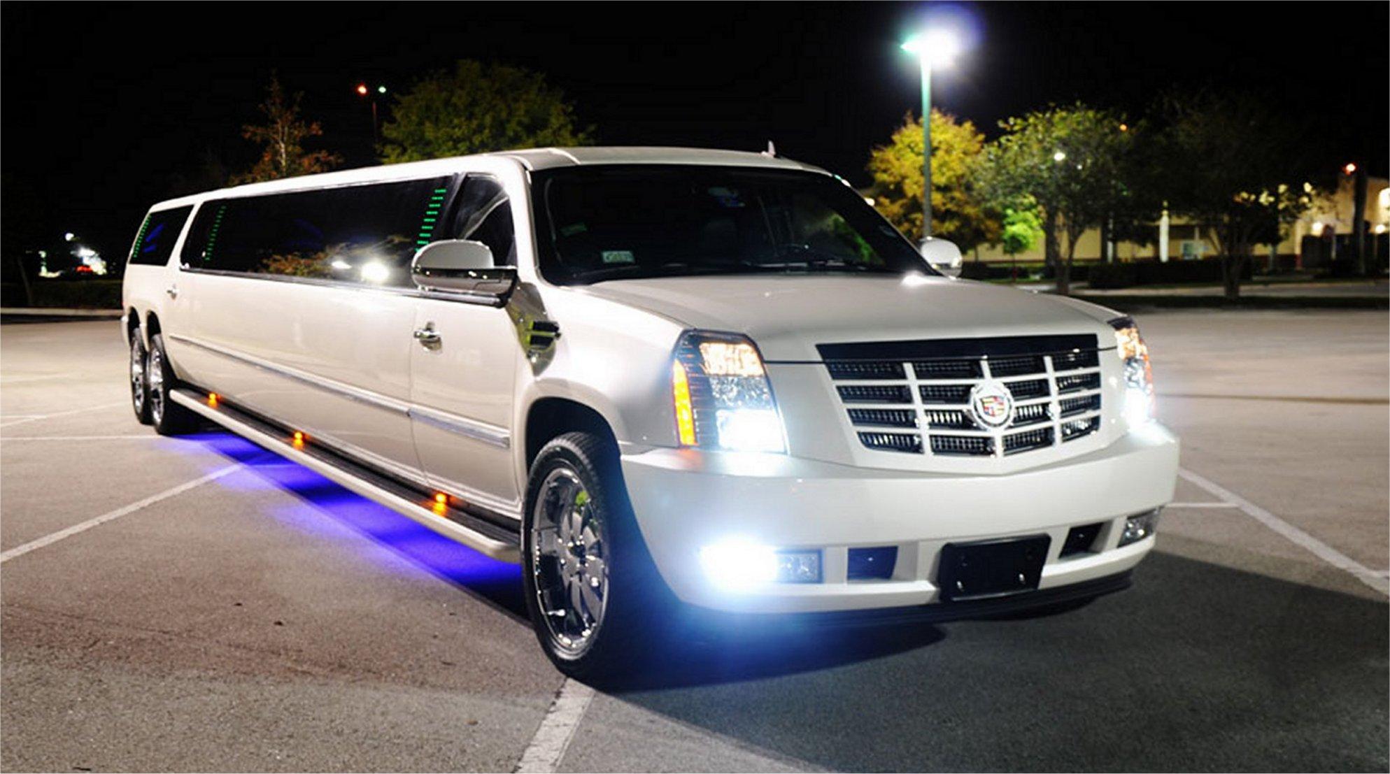 14 Passenger Cadillac Escalade Stretch SUV Limo Exterior 1 1 Cadillac Escalade SUV Limo