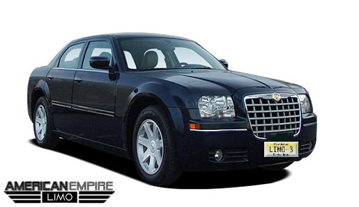 Chrysler 300 sedan black 2008 4 passengers 2 Chrysler 300 Sedan Limousine Rentals