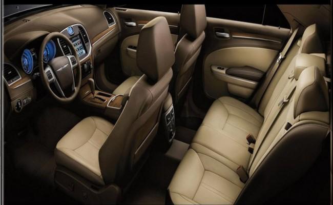 Chrysler 300 Sedan Limo Black Interior 3